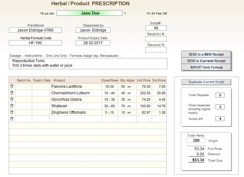 herbal medicine software